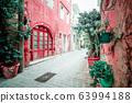 Amazing narrow streets of Crete island. Sunny 63994188