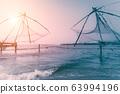 Sunset at tropical beach. Ocean coast landscape 63994196