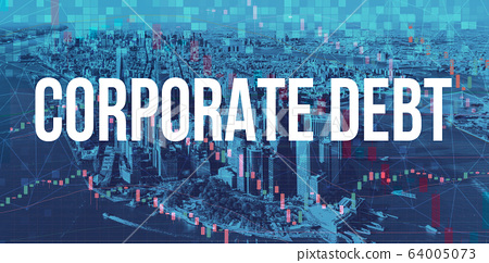 Corporate Debt theme with Manhattan New York City 64005073
