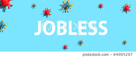 Jobless theme with virus craft objects 64005207