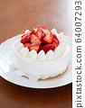 Making sweets at home Strawberry shortcake 64007293