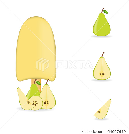Vector illustration of colorful Fresh pear ice 64007639