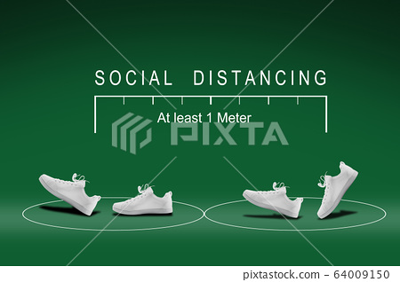 """Concept design for """" Social distancing """"  keep 64009150"""
