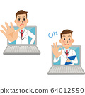 An online doctor is consulting 64012550