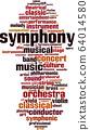 Symphony word cloud 64014580