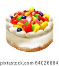 Fruit birthday cake 64026884