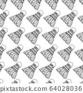 Shuttlecock Icon Seamless Pattern, Shuttlecock For 64028036