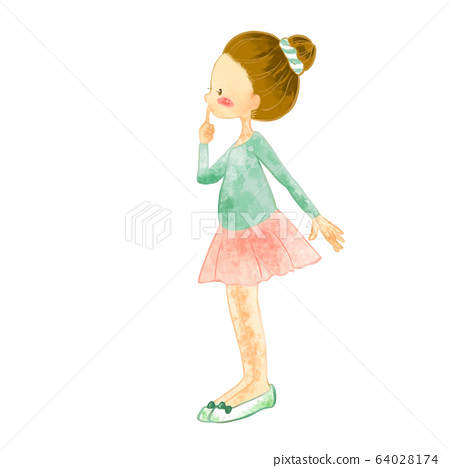 발레를 어린이 수채화 풍의 일러스트 3 64028174