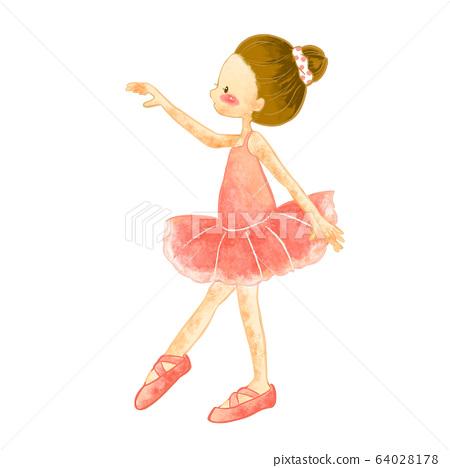 芭蕾舞兒童水彩插圖6 64028178