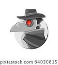 Plague Doctor Mask Vector Suitable For Greeting 64030815