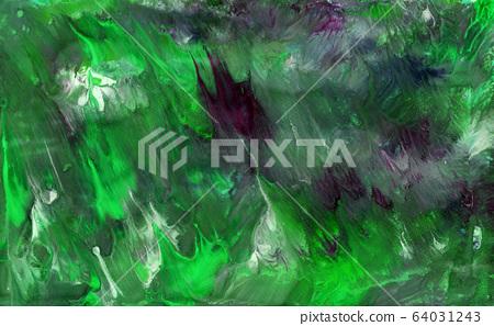 Bright summer green modern dynamic paint artistic paint splashes. 64031243
