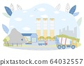 Concrete Batching Plant with Industrial Buildings 64032557