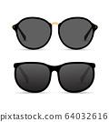 Sun glasses isolated summer illustration. Sunglasses beach cool fashion eyewear 64032616