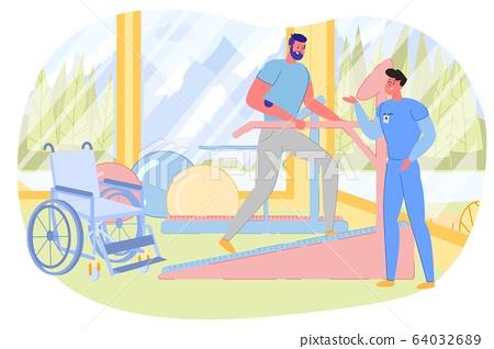 Rehabilitation Training, Physiotherapy Exercises. 64032689