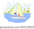 Couple Sailing and Drinking Champagne, Slide. 64032809