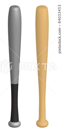 Metal bat and wooden bat 64033453