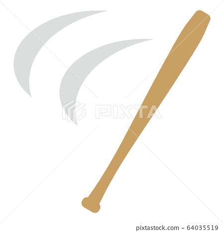 야구 배트의 스윙 64035519