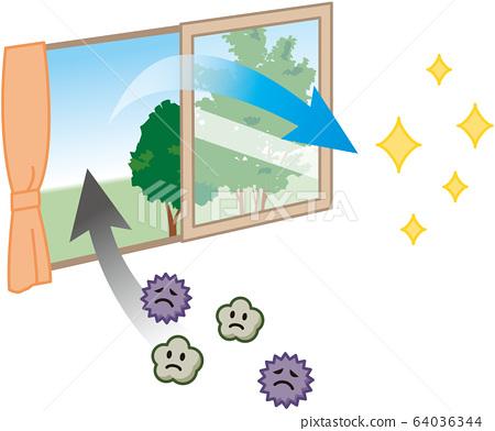 打開窗戶通風 64036344