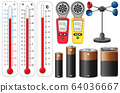 Different types of measurement devices on white 64036667