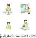 Infection prevention gargle, hand washing, ventilation, mask set (male student) 64045129
