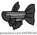 거부 선이있는 메스베타 (흑색) 64046504