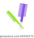 Plastic Hair Comb for Combing Long Hair Vector Illustration 64046575