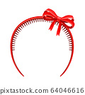 Girlish Headband with Bow for Doing Hair Vector Illustration 64046616