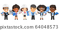 Cartoon Architectural Bureau Workers 64048573