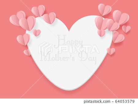 어머니의 날 - 종이 공예 - 하트 -Happy mother 's day 64053579