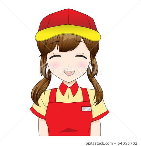 음식점 직원의 소녀 _ 미소 64055702