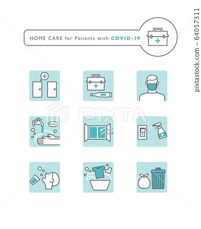 Coronavirus home treatment icon 64057311