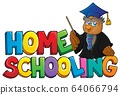 Home schooling theme sign 3 64066794
