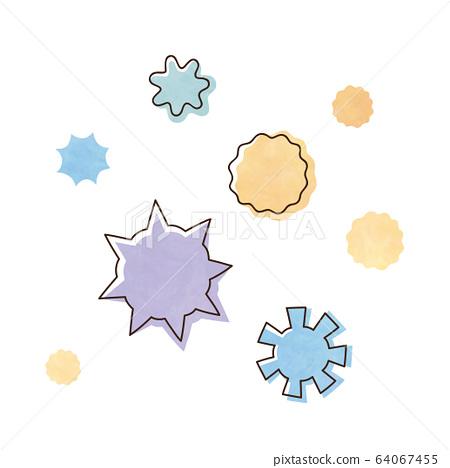 Virus and pollen 64067455