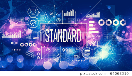 Standard concept with technology light background 64068310