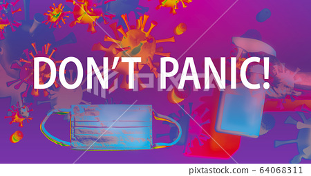 Dont Panic theme with face mask and spray bottle 64068311