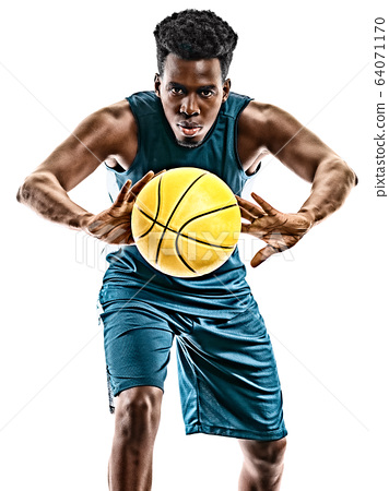 african basketball player young man isolated white background 64071170