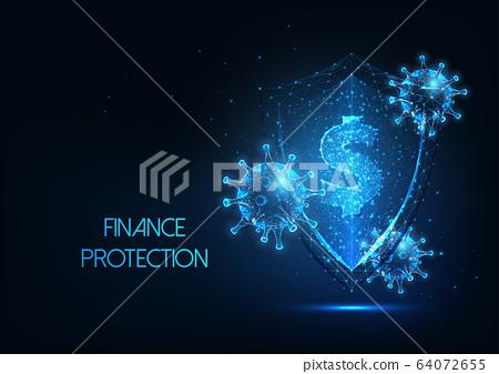 Finance protection during economic crisis caused by coronavirus pandemics quarantine 64072655