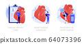 Cardiology vector concept metaphors. 64073396