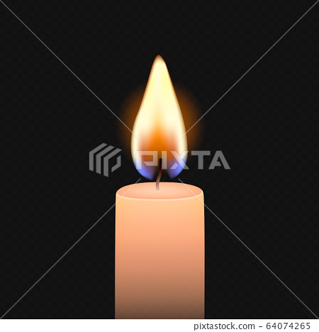 Candle flame fire light 64074265