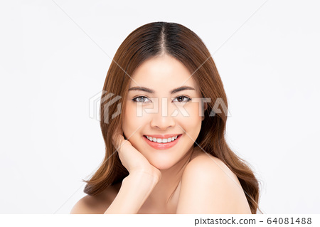 Smiling Asian woman for beauty and skin care 64081488