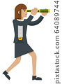 Telescope Spyglass Woman Business Concept 64089744