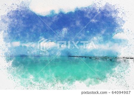 宮古島Irabu島海 64094987