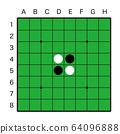 오델로 게임의 반면 (번호 포함) 64096888