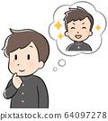 想念人的男學生 64097278