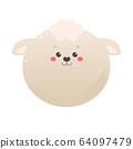 Cute Kawaii Sheep, Lamb.  64097479