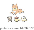 Dog illustration set 64097627