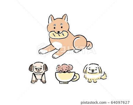 狗的插圖集 64097627