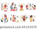 Big bundle of scenes with people enjoying hobbies 64103476