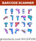 Barcode Scanner Device Collection Icons Set Vector 64104506