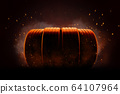 Car tires with sparks and smoke 64107964